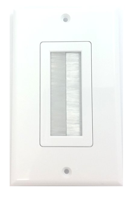 Wall Plate Cable Pass Through : Wall plate with cable pass through brush style